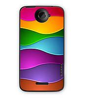 Чехол для HTC One X S720e (Яркие полосочки)
