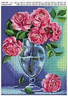 """Схема для полной вышивки бисером """"Розы в вазе"""""""
