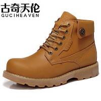 Мужские кожаные утепленные ботинки  2 цвета