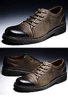 Высококласные мужские кожаные бизнес туфли резьба  2 цвета