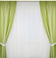 Готовые шторы  салатового цвета
