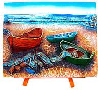 """Картина на мольберте """"Лодки"""" (7*9CM)"""