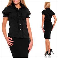 Деловая черная блузка