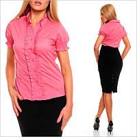 Деловая розовая блузка