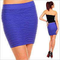 Удобная короткая юбка синего цвета