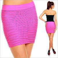 Удобная облегающая юбка розового цвета