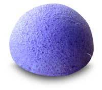 Губка Konjac конняку фиолетовая для умывания, мягкого пиллинга и массажа
