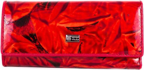 Стильная, женская кожаная ключница-кошелек WANLIMA (ВАНЛИМА) W72091870600-red