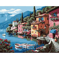 """Картины по номерам """"Курортный городок"""" 40*50 G173"""