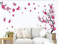 Дизайнерская наклейка Розовое дерево 1