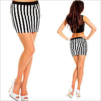 Короткая юбка-карандаш в полоску
