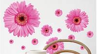Интерьерные наклейки розовый цветок