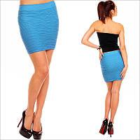 Удобная юбка голубого цвета