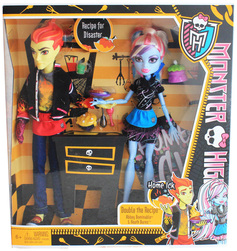 Куклы Monster High Home Ick Abbey Bominable & Heath Burns 2-Pack ...
