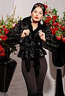 Женская шуба шаде черная, шуба автоледи под норку, шубка из искуственной норки