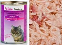 Porta 21 (Порта 21) Feline Chicken Meat with Beef консервы для кошек курица с говядиной в желе (400 г)