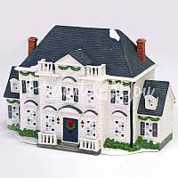 """Фарфоровый домик """"Будинок"""", с диодной подсветкой, h-20x29x15 см."""