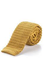 Трикотажный золотисто-желтый галстук