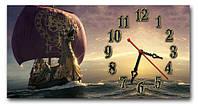 """Оригинальные Часы-картина """"Корабль с головой дракона"""" 30х60 см"""