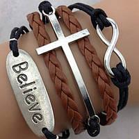 Браслет винтажный с крестом