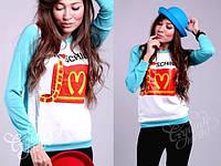 Модный свитшот Moschino с аппликацией в расцветках