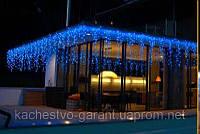 Новогодняя-уличная гирлянда занавес дождь 6 х 1 метра на 720 Led Синяя