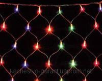 Новогодняя LED гирлянда сетка 1,5х1,4м, для  декорирования витрин, окон, потолков.