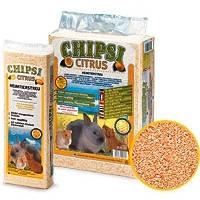 JRS Rettenmaier Chipsi Citrus прессованные опилки для грызунов с ароматом лимона 60л, 3.2кг