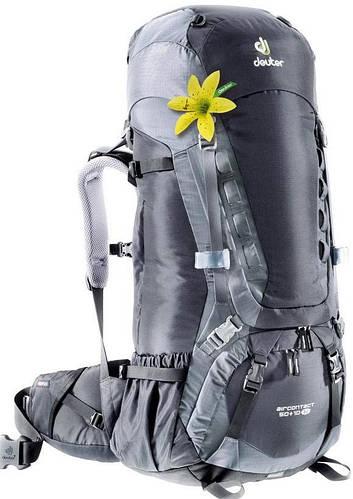 Женский, прочный туристический рюкзак на 50+10 л. ACT TRAIL 50+10 EL DEUTER, 33432 7490 чёрный