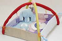"""Игровой коврик-манеж  для новорожденных """"Слоник с мячиком""""."""