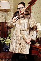 Искусственная норковая шуба леопардовая ,длинная норковая шуба песочного цвета с капюшоном, недорогие шубы