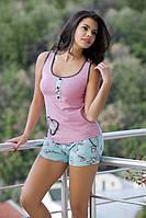 Женская пижама  Angel Story 4100, домашний костюм майка и шорты