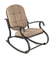 Кресло-качалка,металлическое,кофе с молоком