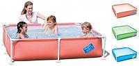 Детский каркасный бассейн Bestway 56218 Синий (163x163x36 см.)