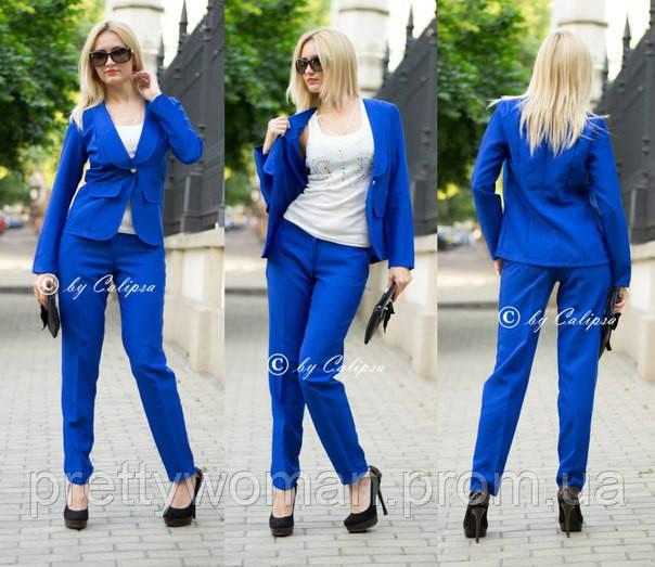 Синие женские брючные костюмы