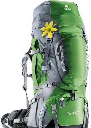 Качественный, хайкинговый женский рюкзак на 65+15 л. ACT TRAIL 65+15 EL DEUTER, 33833 2404 зелёный