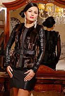Стильный коричневый меховой женский жилет из эко-меха под норку с кожаными вставками, женский жилет из норки