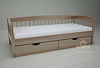 """Кровать одноярусная  """"Кантри"""" Brown. Ясень."""