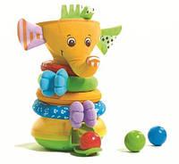 Музыкальная Пирамидка Радужный Слоник  Tiny Love