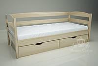 """Кровать одноярусная  """"Люкс"""" Natural. Ясень."""