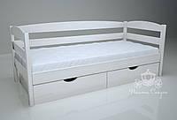 """Кровать одноярусная  """"Люкс"""" White. Ясень."""
