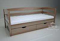 """Кровать одноярусная  """"Люкс"""" Brown. Ясень."""