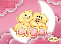 Схема для вышивки бисером Влюбленные мишки ТД-010