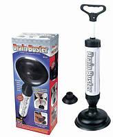 Необходимая вещь для дома! вантуз drain buster, с выдвижной ручкой и двумя сменными насадками для разных труб