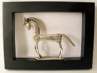 """Картина с бронзовой фигурой """"лошадь"""" (30x20)"""