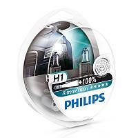 """Автомобильные галогеновые лампы """"PHILIPS""""(H1)(X-treme Vision)(+100%)(12V)(55W)"""