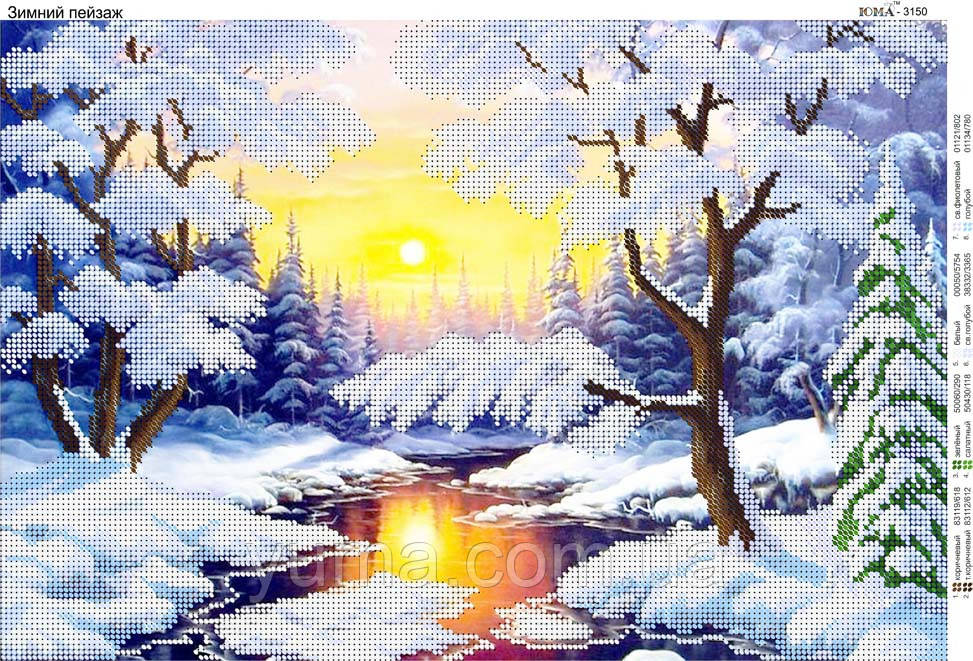 Зимний пейзаж схема для
