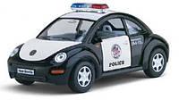 Металлическая машинка Kinsmart Volkswagen New Beetle полиция