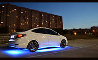 Подсветка днища автомобиля 16цветов—на пульте!