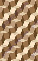 """Коврик Флорида """"3D квадраты"""", цвет коричневый. Купить ковер Киев недорого"""